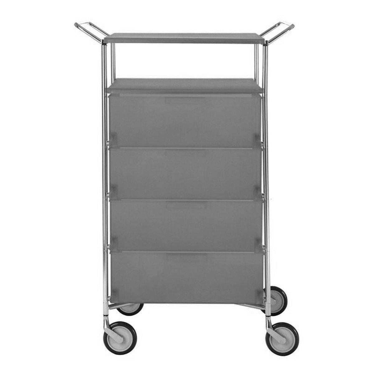 Kartell 2334L5 Container Mobil, 4 Schubladen, matt schiefergrau