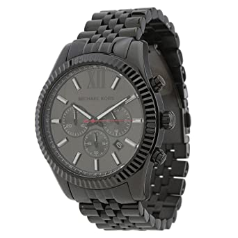 3ae07b789bc1 Amazon.com  Michael Kors Men s MK8320 Black Stainless Steel Watch ...