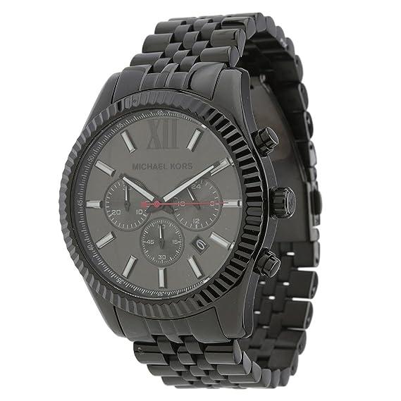 25e757239a4dc Michael Kors MK8320 All Black  Large Lexington  Chronograph Bracelet Watch  Michael  Kors  Amazon.co.uk  Watches