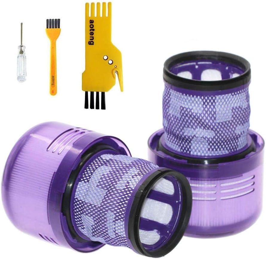 aotengou Accesorios Filtros para Dyson V11 Torque Drive inalámbrico Stick Aspiradora Piezas de Repuesto Pack de 2 pcs Hepa Filtros: Amazon.es: Hogar