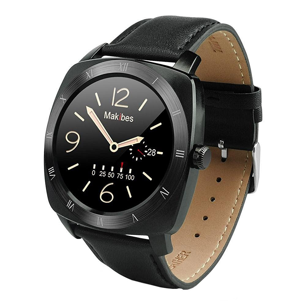 Makibes® Smartwatch Deportivo Bluetooth 4.0 para iOS/Android móvil,negro