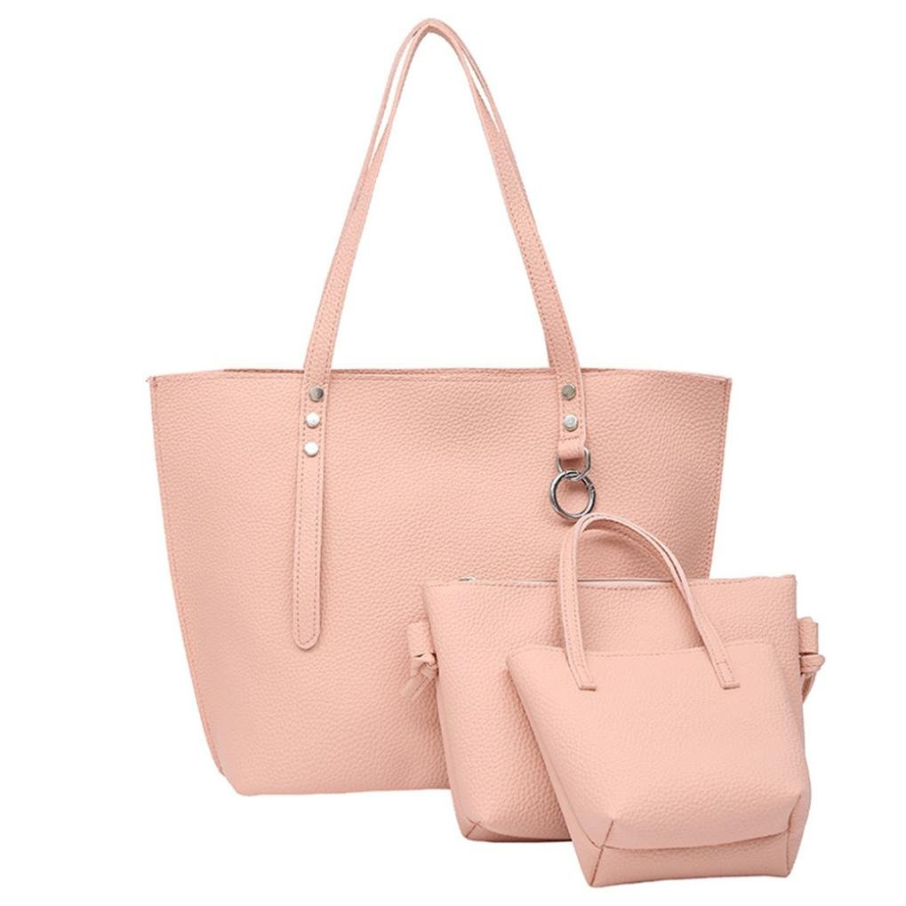Set of 3PCS Women Large Shoulder Bag Cross-body Bags Leather Handbag Cheap for Girl by TOPUNDER C