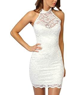 SaiDeng Vestido Corto Casual Verano Vestido Corto De Encaje Clubwear Caliente Para Fiestas Club Para Mujeres