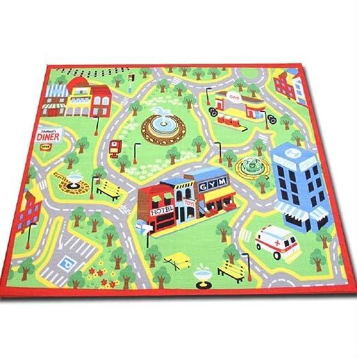 axnx Alfombras Alfombra De Juego Grande para Niños Alfombra De Juego City Life 59X79 Pulgadas: Amazon.es: Hogar