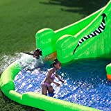 Blast Zone Crocodile Isle Inflatable water Park with Dual Slides by