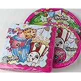 Shopkins Party Plate and Napkin 3 Item Bundle