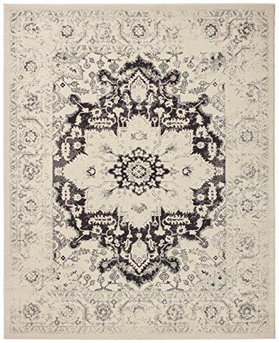 Stone & Beam Modern Blooming Floral Rug, 4' x 6', Black ()