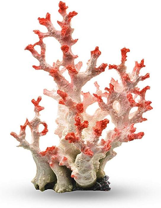 Danmu 1Pc of Polyresin Coral Fish Tank Aquarium Decoration, Coral Ornaments, Aquarium Coral Decor 8