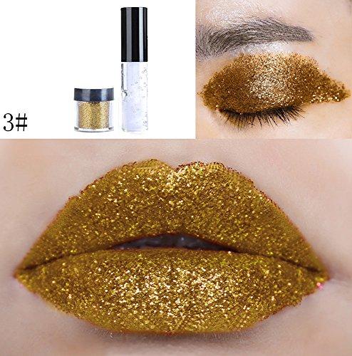 DZT1968 20colors Shimmer Glitter Lip Gloss Diamond Powder Palette Glitter Lipstick Cosmetic Eye Shadow (C)