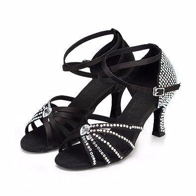 YFF Tanz Schuhe Frauen Latin Dance Shoes Ballroom Tango Jazz Salsa,Farbe 2,9.5 LEIT