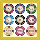 Craft Room GAG1022-SY Poker Chips, 12x12-Inch
