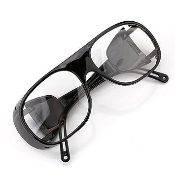 A-szcxtop UV Gafas de Soldadura Gafas de protección Gafas de Sol Ligero Resistente al Viento, Hombre, White Transparent: Amazon.es: Deportes y aire libre