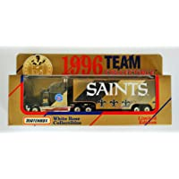 $24 » Matchbox White Rose 1996 NFL Team Collectible 1:87 Scale Diecast Tractor Trailer NEW ORLEANS SAINTS