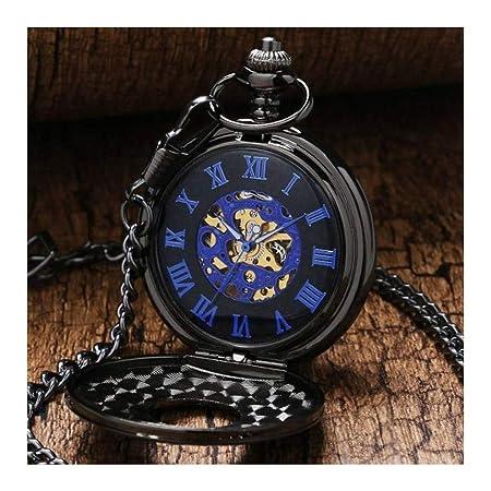 WHQ Reloj de Bolsillo para Hombres, Collar de Concha Vintage ...