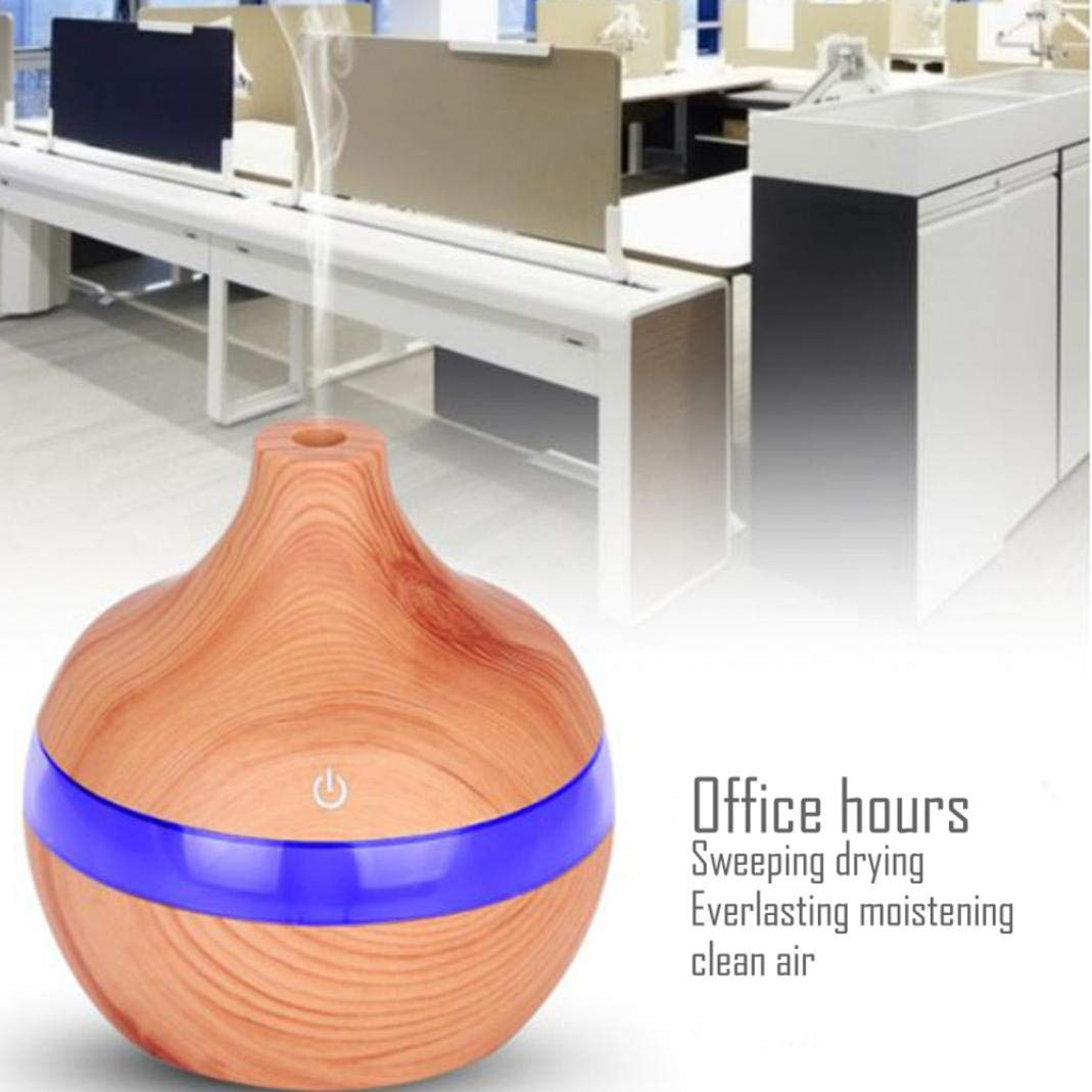 LbojailiAi Mejora de la Calidad del Aire 300ml USB LED Humidificador de luz Nocturna Mini purificador de Aire Ultras/¨/®Nico Difusor de Aroma 1