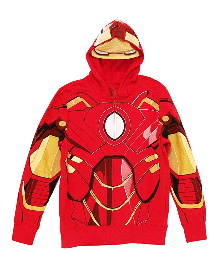 TV Store Iron Man Rojo Disfraz de Zip Up Hombre con Capucha ...