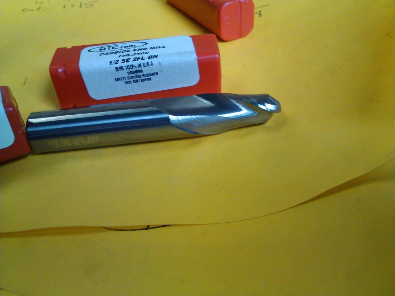 1//4 Carbide 4 Flute Ball Nose End Mill 135-4250 USA
