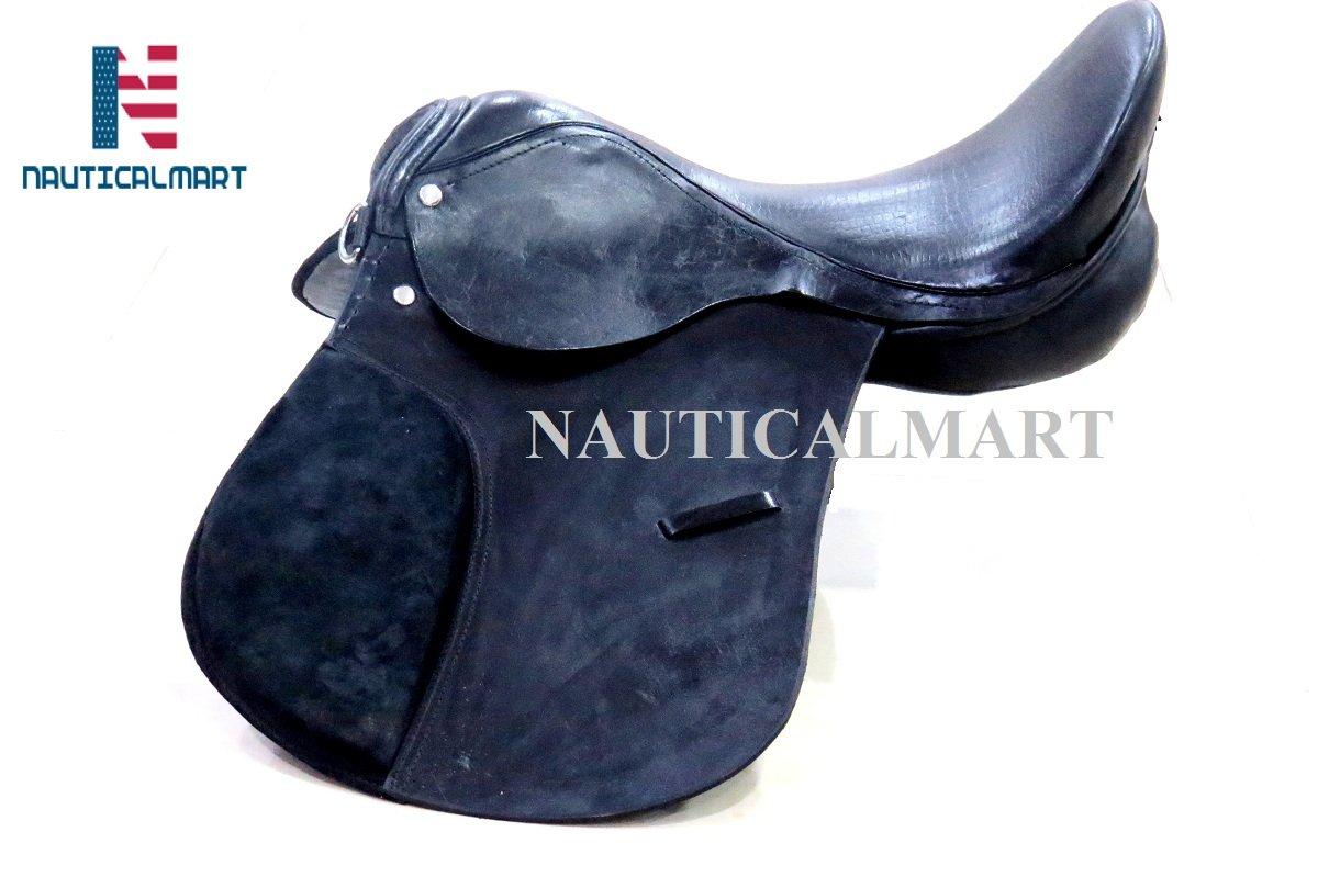 NAUTICALMART新しいブラックすべて目的英語Riding Horseサドル   B07DYQ9FVG