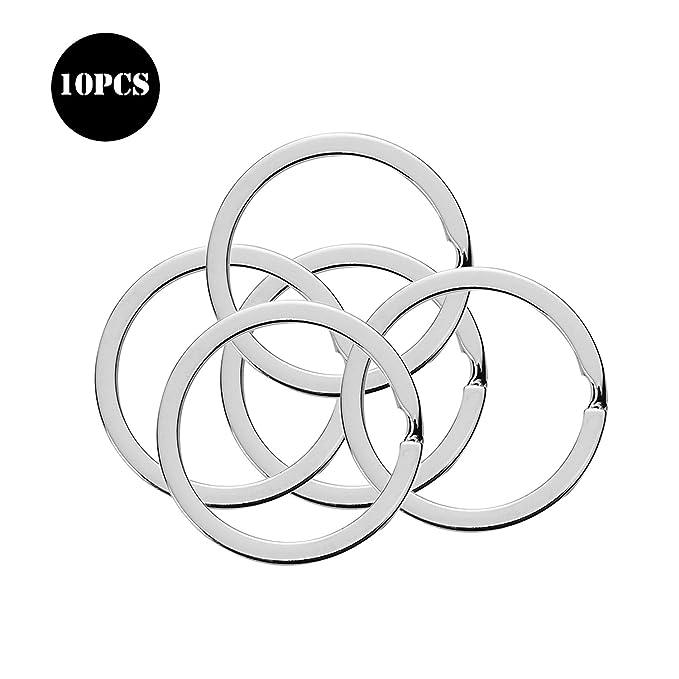 Amazon.com: Llavero plano de 10 piezas de 1 pulgada, llavero ...