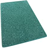"12'X30′ Area Rug Carpet. CARRIBEAN OCEAN TEAL BLUE 30 oz. ½"" Thick. 100% Polyester fiber, Medium Density, Soft and Durable. MULTIPLE SIZES, SHAPES and Brilliant Colors. Review"