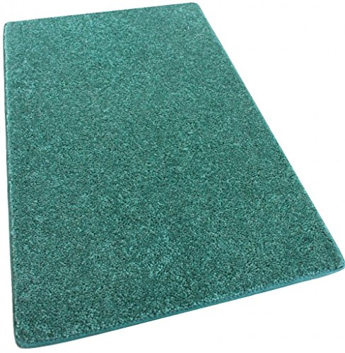 "7'X 8′ Area Rug Carpet. CARRIBEAN OCEAN TEAL BLUE 30 oz. ½"" Thick. 100% Polyester fiber, Medium Density, Soft and Durable. MULTIPLE SIZES, SHAPES and Brilliant Colors. For Sale"