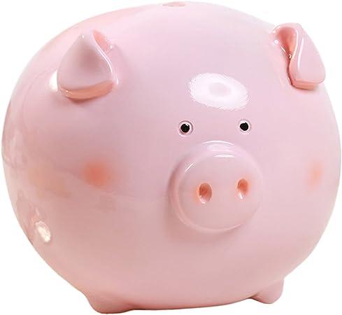 Aivtalk Cochon Tirelire Enfants Mignon Epargne Decoree Cadeau Anniversaire Piggy Banque Aimable Exquis Resine Chic Rose