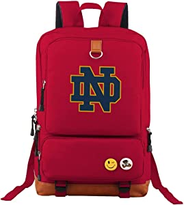 Notre_Dame Students Travel Laptop Backpack Business Anti Theft Slim Durable Laptops Travel Computer Bag Red