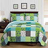Rebekah King / California-King Size, Over-Sized Coverlet 3pc set, Luxury Microfiber Printed Quilt by Royal Hotel