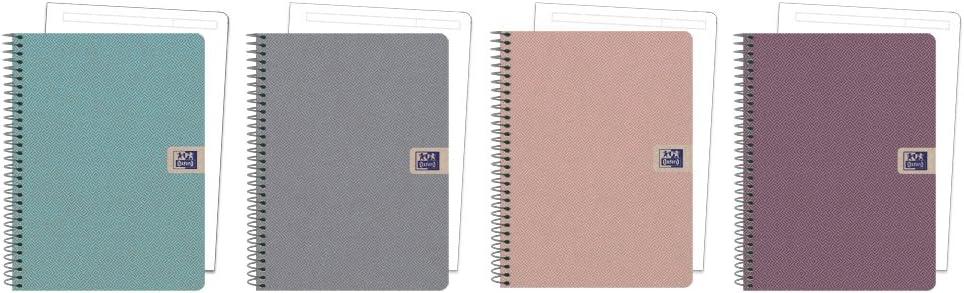 Oxford 400102376 - Pack de 5 cuadernos microperforados, A5+: Amazon.es: Oficina y papelería