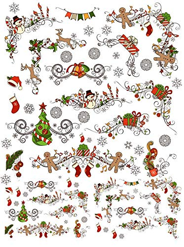 Little Bits Of Christmas - 64661 - Ceramic Decal - Enamel Decal - Glass Decal - Waterslide Decal - 3 Different Size Sheet (images) to Choose from. Choose either Ceramic (Enamel) or Glass Fusing Decals