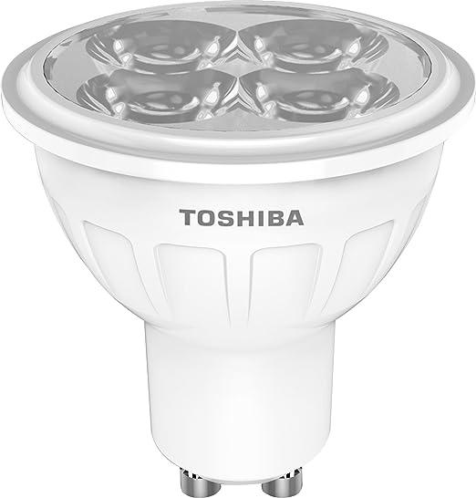 Toshiba Bombilla LED GU10, 50 W, Blanco cálido