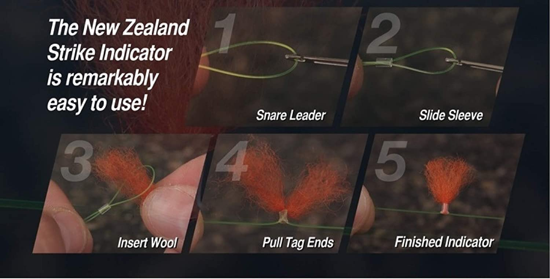 White New Zealand Strike Indicator Wool