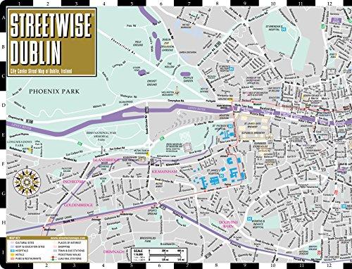 Streetwise Dublin Map - Laminated City Center Street Map of Dublin on