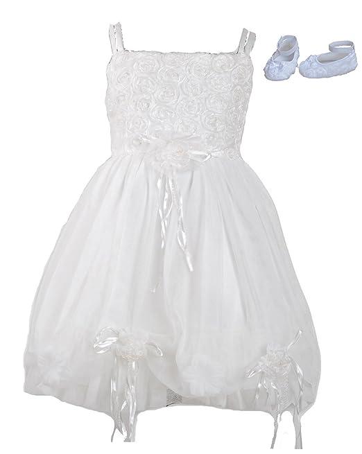 Cinda niñas bautizo del bebé vestido de fiesta con los zapatos: Amazon.es: Ropa y accesorios