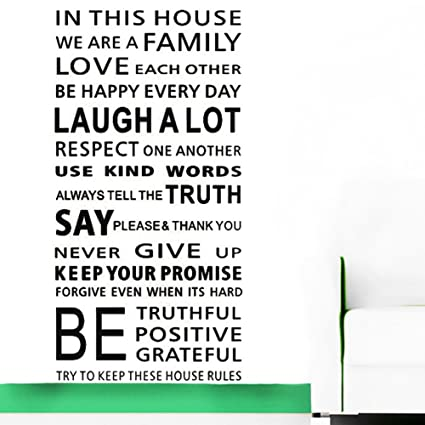 Large Quotes Wall Decal Inspirational Stickers Motivational Family Saying Decorative Nursery Art Kids Baby Home Letters  sc 1 st  Amazon.com & Amazon.com: Large Quotes Wall Decal Inspirational Stickers ...