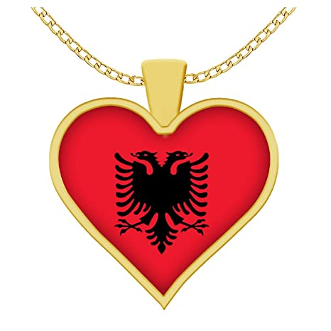Amazon hot fresh and funny albanian flag necklace national hot fresh and funny albanian flag necklace national colors of albania pendant aloadofball Gallery