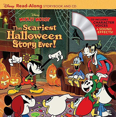 Disney Mickey Mouse: The Scariest Halloween Story Ever! Read-Along Storybook and CD -