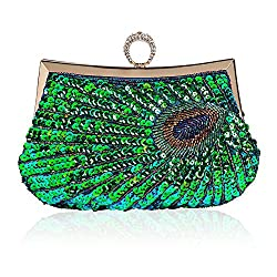 Unique Luxury Sequins Beaded Clutch