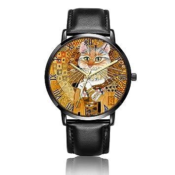 [kosung] piña pintura reloj de pulsera, personalizado unisex acero inoxidable resistente al agua