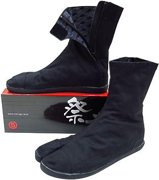 祭走 ファスナー足袋 (黒) 7枚丈 立体インソール入り