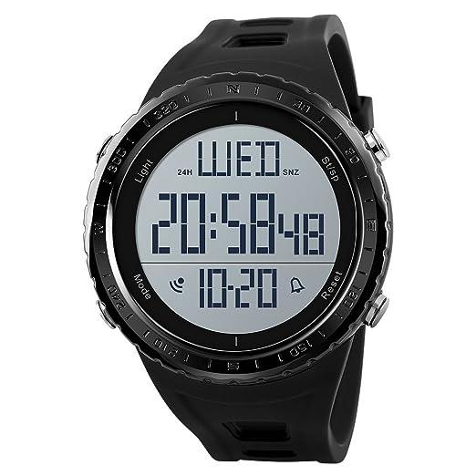 Relojes militares de deportes al aire libre con cronógrafo impermeable, reloj digital con calendario, retroiluminación, reloj despertador para estudiantes, ...