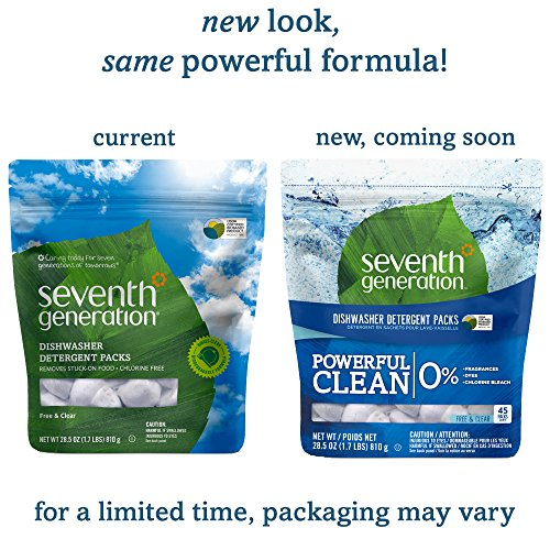 Seventh Generation Dishwasher Detergent Packs, Free & Clear, 90 count by Seventh Generation (Image #2)