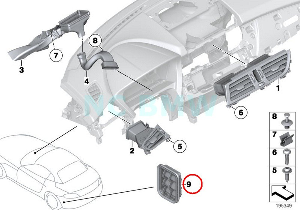 BMW Genuine Rear Ventilation