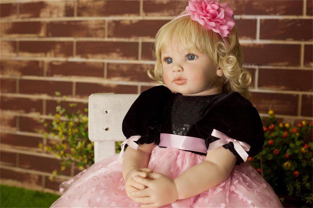 calidad garantizada ZIYIUI Muñecas Reborn 24'' 60cm Renacer Baby Dolls Dolls Dolls Simulación Suave Vinilo de Silicona Ojos Abiertos Bebé Reborn niña Lifelike Toddler Babies Realista Niña Niño Regalo de Juguete  descuento online