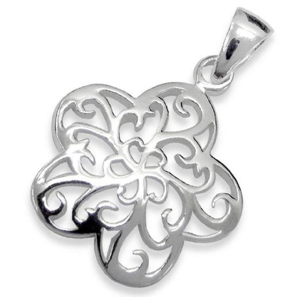 So Chic Jewels 925 Sterling Silver Filigree Star Pendant