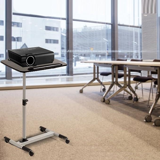 MACLEAN MC671-Carrito para proyector y notebook con 4 ruedas ...