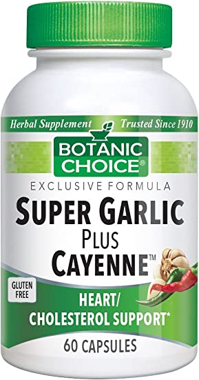 Botanic Choice Super Garlic Plus Cayenne, 60 Capsules