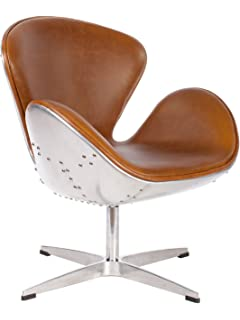 Superieur Hand Hammered Aviator Aluminum Mid Century Modern Classic Arne Jacobsen  Style Swan Replica Chair With Premium