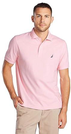 Nautica Mens Short Sleeve Solid Polo Shirt, OrchidPink, XXL ...
