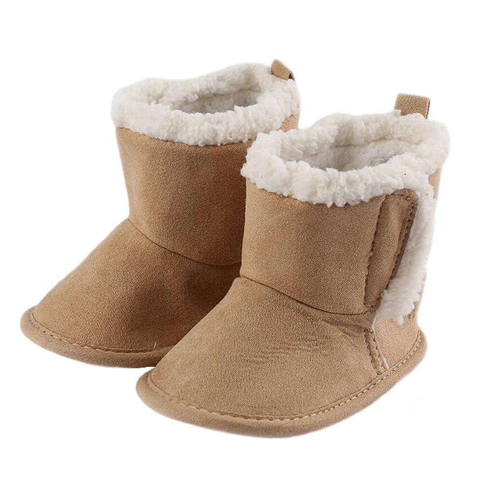 Infant Baby Girl Boy Winter Boots Newborn Kids Toddle Soft Sole Warm Snow Boots Prewalker Crib Shoes Fleece Anti-Slip Shoes